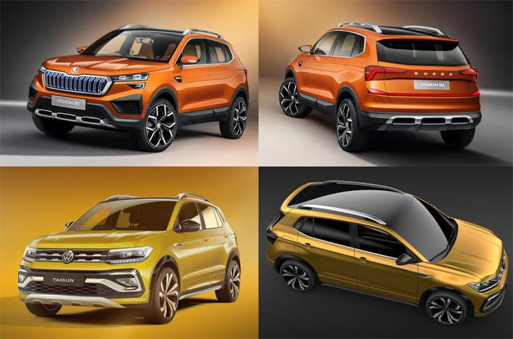 "Recently revealed Skoda Vision IN and VW Taigun concepts. Skoda says, ""By utilising the existing synergies in the India 2.0 project,"" it could also offer models in Sri Lanka that will be developed under the upcoming model campaign in the Indian market."