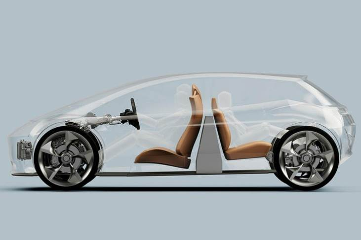 Rather than site it under the floor, as it is on most production cars, Page-Roberts calls for the battery to be mounted vertically in the cabin itself.