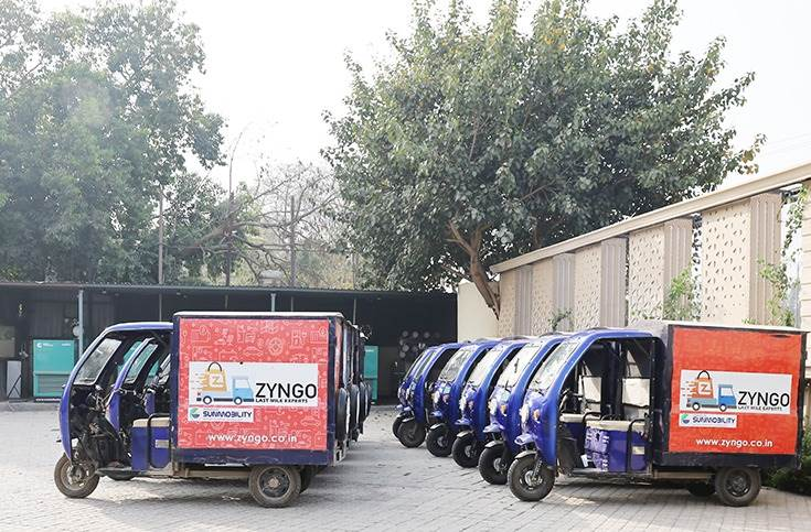Zyngo has already deployed 120 electric delivery vehicles, mainly 3 –wheelers, in Delhi, Gurgaon, Noida and Ghaziabad. It plans to expand to 500 vehicles by end-2021 across more cities.