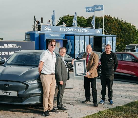 The new Ford Mustang Mach-E has set a Guinness World Record for efficiency in an electric car. It averaged 6.54 miles / 10.7 kilometres per kWh on an 840-mile / 1,777km route.