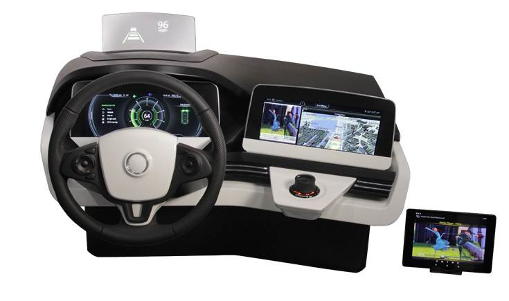 SmartCore domain controller drives the infotainment and instrument cluster domains on one system-on-chip, offering large TFT displays for a best-in-class user experience with seamless HMI.