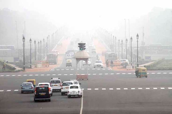 File picture of a smog-hit Delhi in winter.