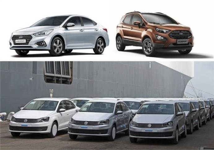Hyundai Motor India, with 169,861 units including 60,065 Vernas, is No. 1 PV exporter, ahead of Ford India whose EcoSport with 88,429 units is most exported model. VW India shipped 55,617 cars in FY20