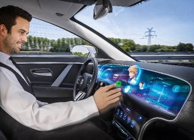 The Natural 3D Lightfield Centerstack is the first automotive 3D-Display with gesture interaction, touch control and haptic feedback