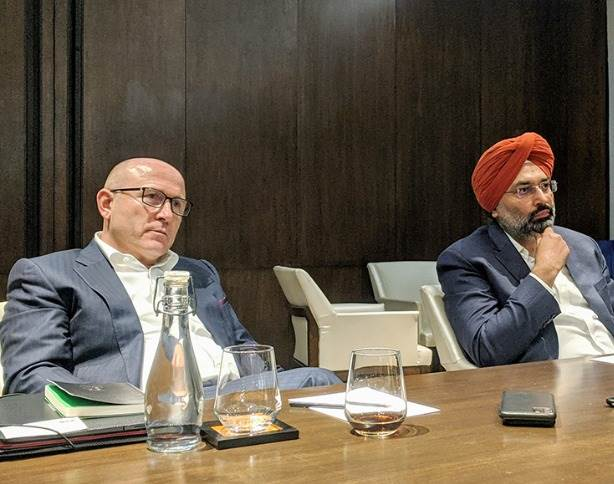 "Skoda Auto CEO Bernhard Maier: ""We will start with SUVs because it is the fastest growing segment globally. Sedans are still selling in big numbers."" Seen here with Gurpratap Boparai, MD, Skoda Auto Volkswagen India."