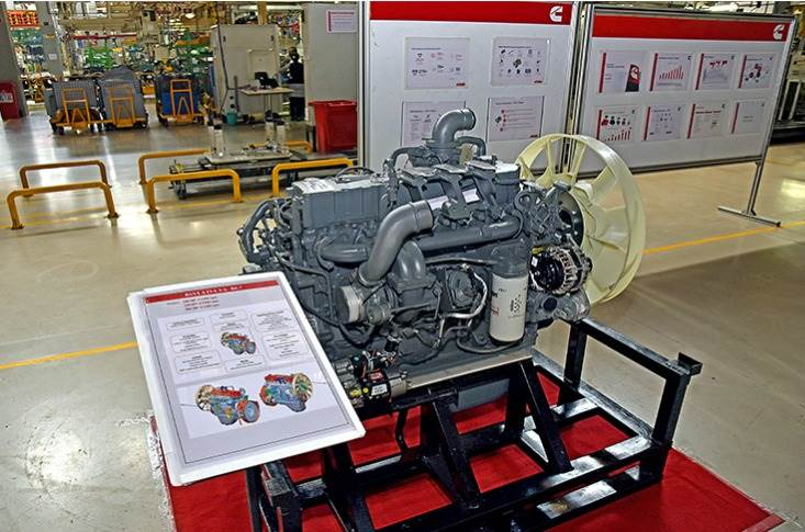 This 5.6-litre engine is one of the two BS VI engines from Cummins India. Both share a 'B' or the mid-range platform.