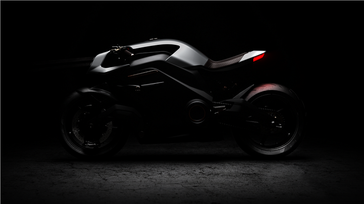Arc, the world's first fully-electric motorcycle with Human Machine Interface (HMI).