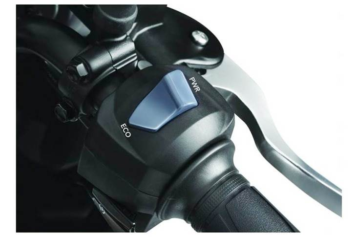 The rider can toggle between Eco and Power modes.