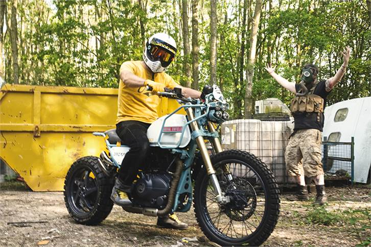 The MJR Roach takes the base Royal Enfield Himalayan adventure bike and builds upon it.