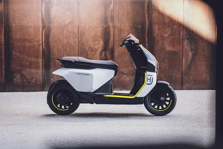 The Vektorr Concept is the first electric scooter ever produced by Husqvarna.