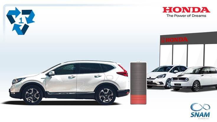 The pan-European arrangement will see SNAM collect and recycle batteries from Honda