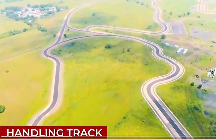 The test track can also be used for commercial events like a product launch, supercar racing and dealers events.
