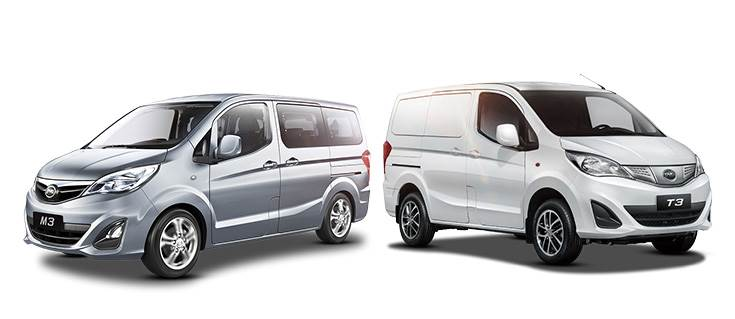 Full-electric T3 MPV (left) and Cargo Minivan (right) take 90 minutes for a full charge that delivers up to 300km range. BYD is now keen to begin producing electric cars in India.