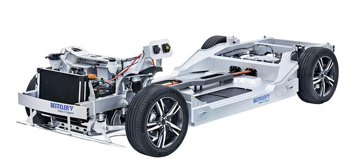 The Benteler Electric Drive System 2.0 showcases the company´s engineering and metal-processing competence, from components and modules for chassis, body-in-white and engine and exhaust applications