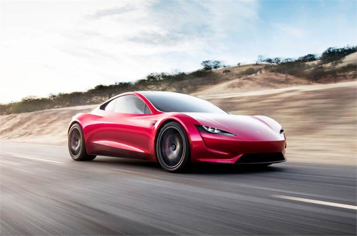 Tesla claims the Roadster goes from 0-100kph in 1.9sec and goes on to hit 100mph/160kph in 4.2sec and achieve a quarter-mile sprint in 8.9sec.