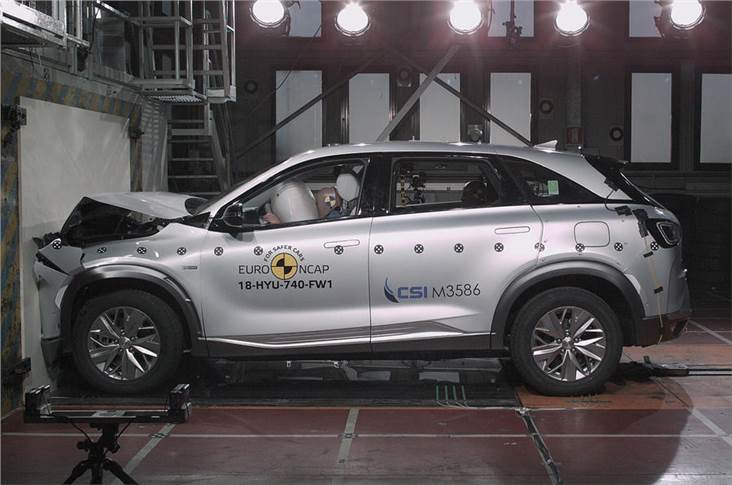 The Nexo fuel cell car scored five stars in Euro NCAP testing