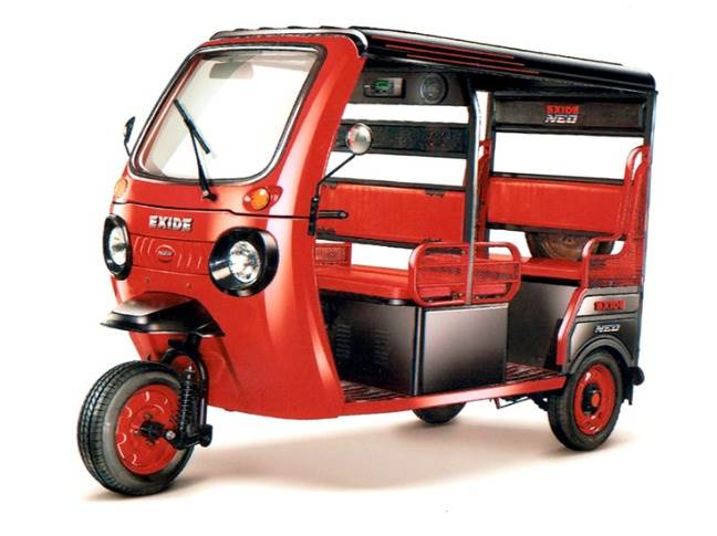 Exide is the first large organised player in India to enter the electric rickshaw market.