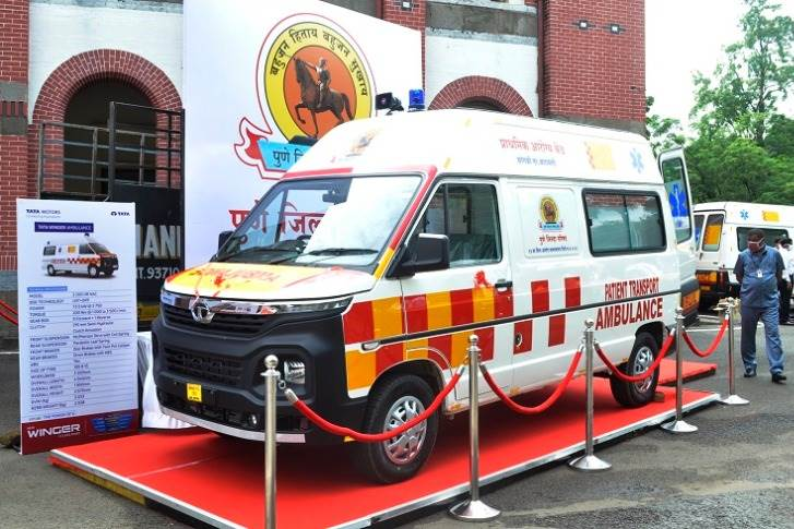 Tata Motors says the Winger ambulances, delivered to Zilla Parishad of Pune, are specially adapted for the transport of Covid-19 patients in the district of Pune.