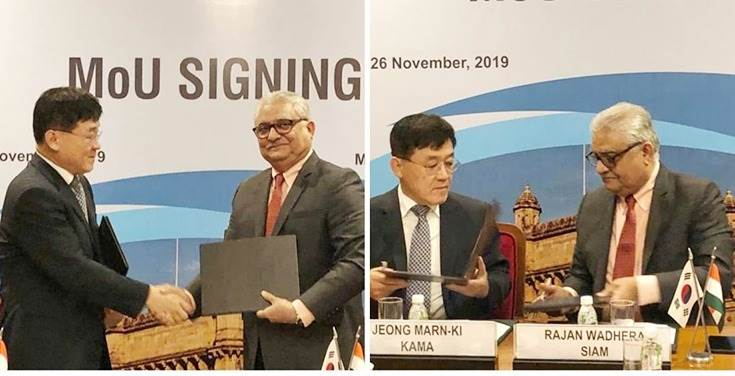 SIAM and KAMA ink MoU with the aim to promote sustainability, efficiency and increase affordability in the automotive industry.