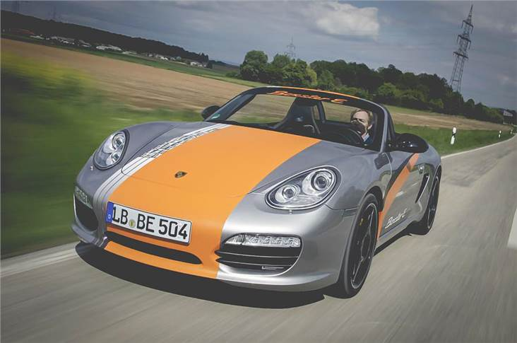 2011 Boxster E tested early EV technology