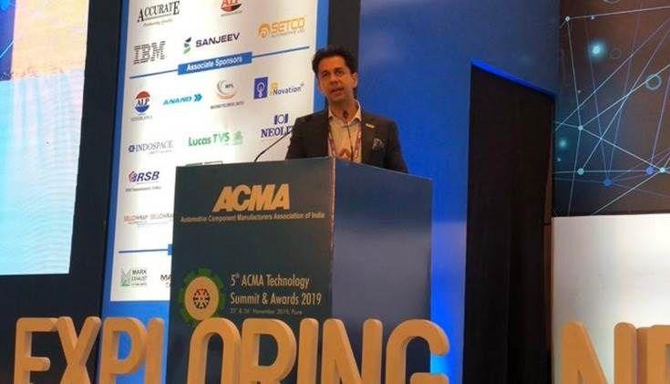 """Deepak Jain, President ACMA: """"ACMA is the working towards getting the supply chain ready for smart, intelligent and connected vehicles. Our competitiveness relies on quality, localisation, costs and fulfilling the needs of the customers."""""""