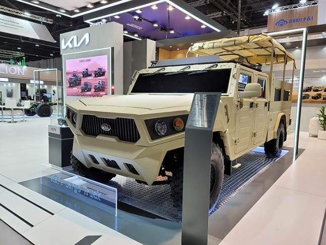 • Kia's Light Tactical Cargo Truck's modular platform can underpin mobile workshops, communication hubs and troop and cargo carrying capabilities