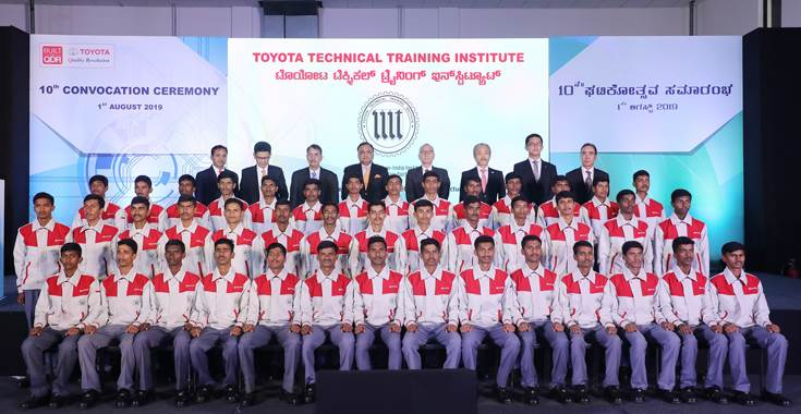 42 Students from the 2016-19 batch were conferred with academic degrees at the 10th convocation ceremony of the Toyota Technical Training Institute.