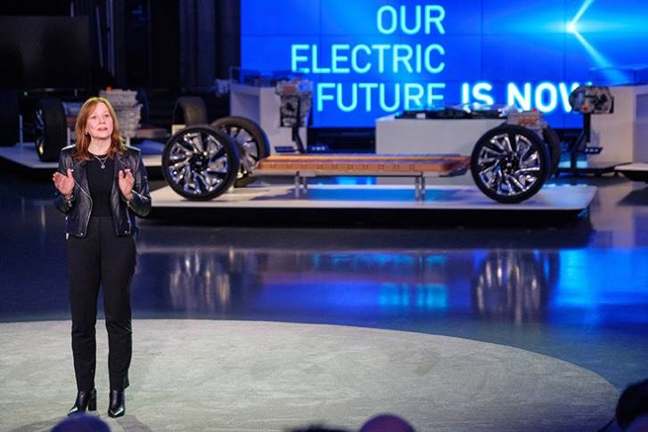 "Mary Barra: ""Climate change is real, and we want to be part of the solution by putting everyone in an electric vehicle."""
