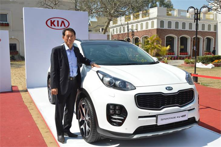 Yong S Kim, executive director and CSO, Kia Motors India, during the Kia Design Tour 2019.