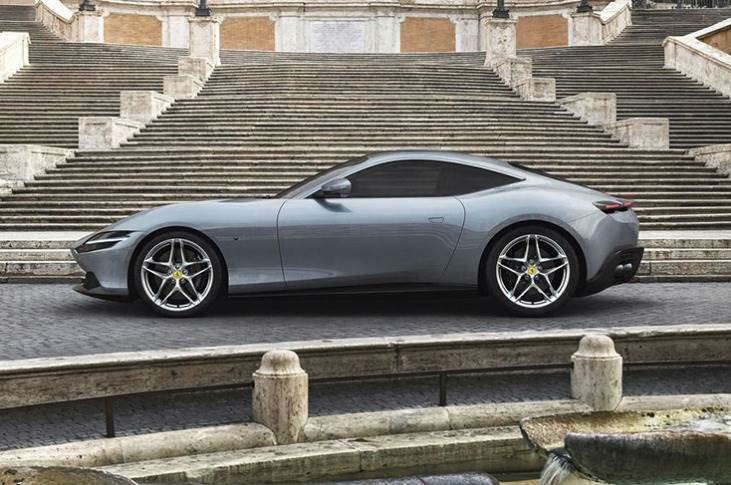 Roma is 200mph front-engined machine with V8 turbo motor and delivers 602 hp