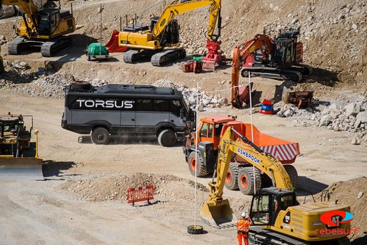 The 6.9-litre, six-cylinder diesel engine enables access to and from any terrain, says Torsus.