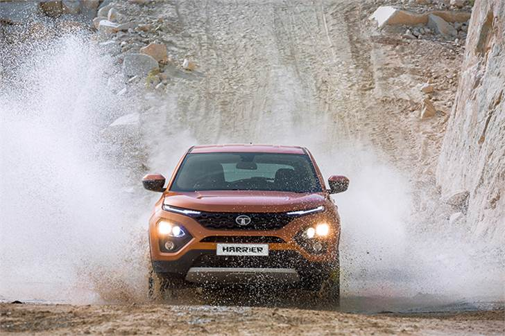 Although Tata Motors is not offering the Harrier with four-wheel drive, the SUV does get multiple off-road modes that can be selected via a circular knob on the centre console.