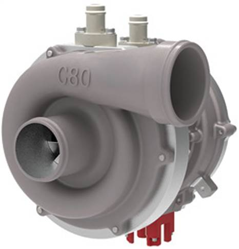 COBRA (Controlled Boosting for Rapid Response Application) is a liquid-cooled switched reluctance motor directly driving a compressor for medium- to heavy-duty vehicle applications.