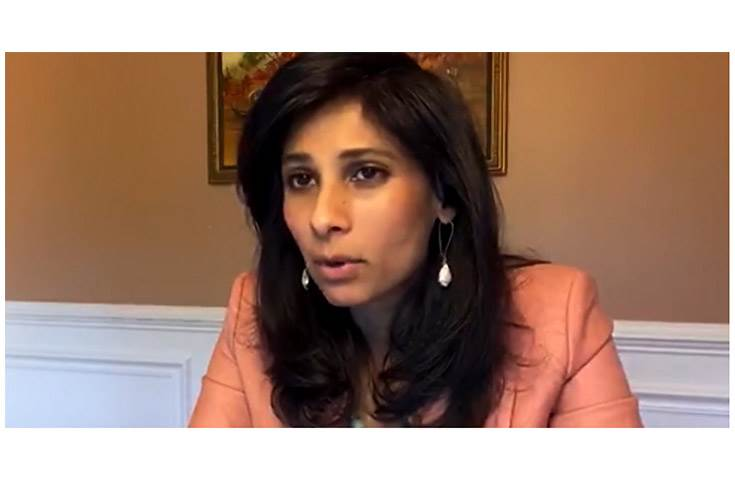 "IMF chief economist Gita Gopinath: ""We expect growth to rebound partially in 2021, coming back to 5.2 percent."""