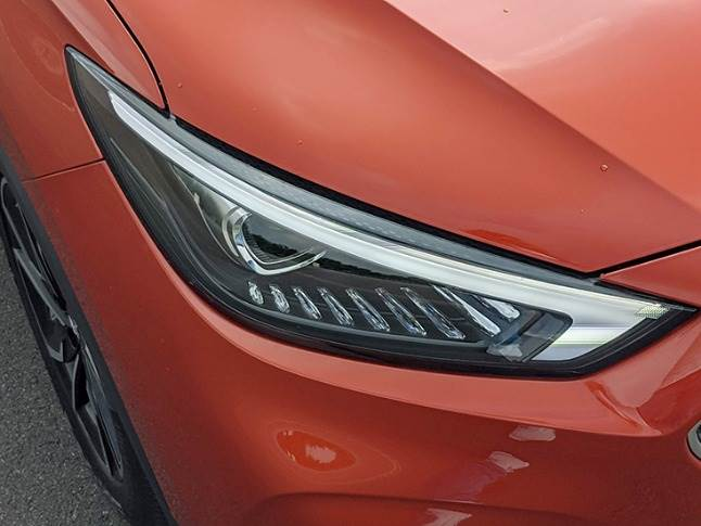 China-sourced LED headlamp gets integrated DRLs and diamond-like styling elements. MG is localising the Astor