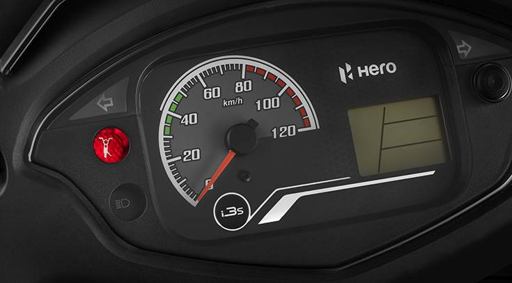 The latest Hero scooter has a side-stand down indicator, which is a useful addition.