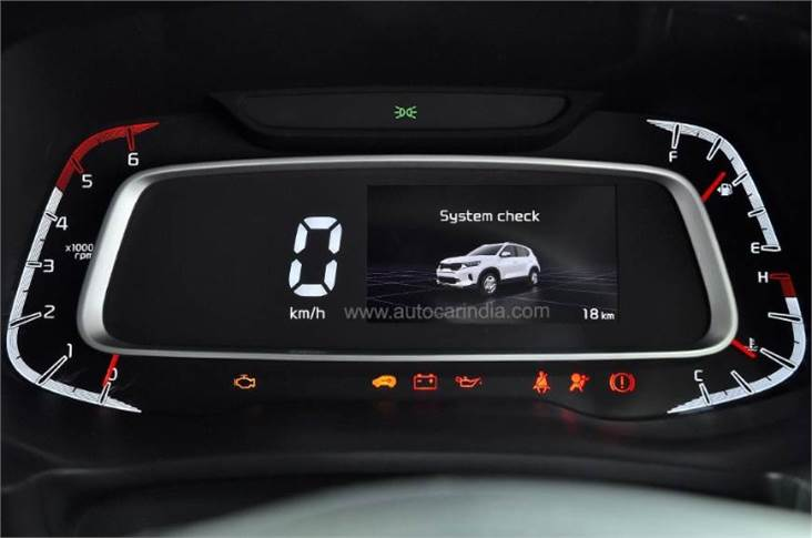 The 4.2-inch (10.66 cm) multi-information display in the Sonet presents key information in vivid colour and clarity, such as turn-by-turn navigation instructions, data from the TPMS, toggle info between the drive and traction modes on the Sonet automatic variants. The screen is seamlessly married to a digital speedometer and an analogue tachometer on the instrument binnacle.