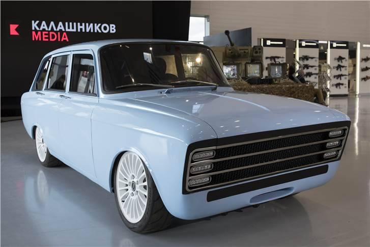 The electric car from the Kalashnikov group, makers of AK-47