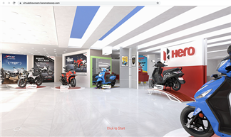 The virtual showroom showcases nine products, which can be purchased through Hero's e-commerce portal – eShop