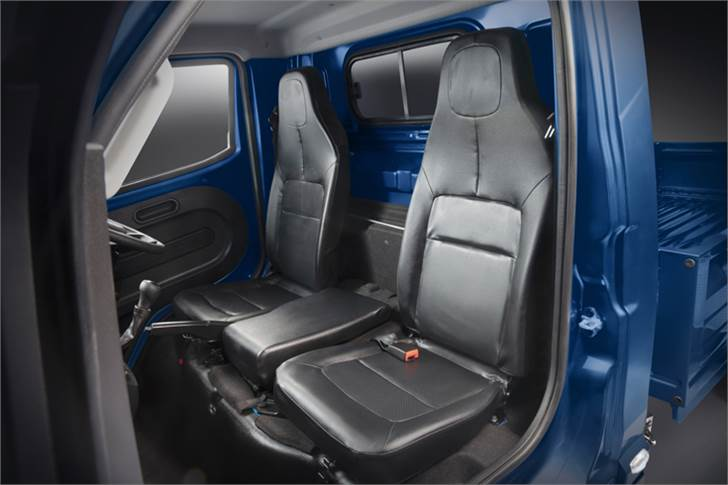 Tata Intra cabin is has an ergonomically designed cabin with low NVH levels aimed at enhancing for driver comfort.
