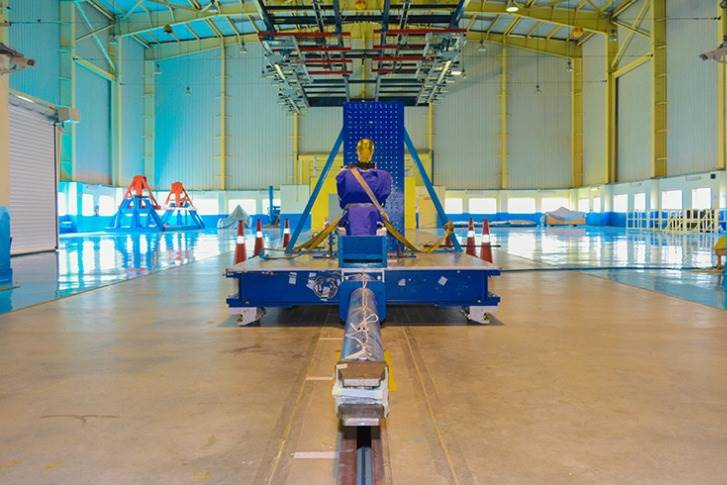 The sled test facility at ICAT
