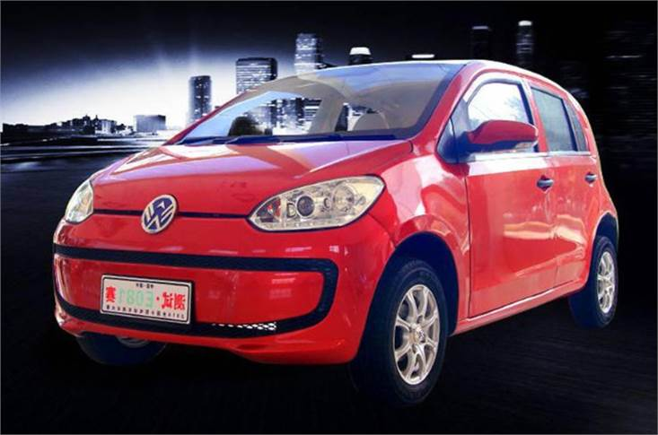 The Weikerui V7 is a (zero) carbon copy of the Volkswagen e-Up...