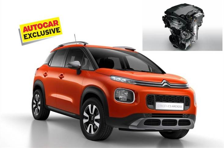 C3-based C21 compact SUV will get only a 1.2-litre turbo-petrol engine.