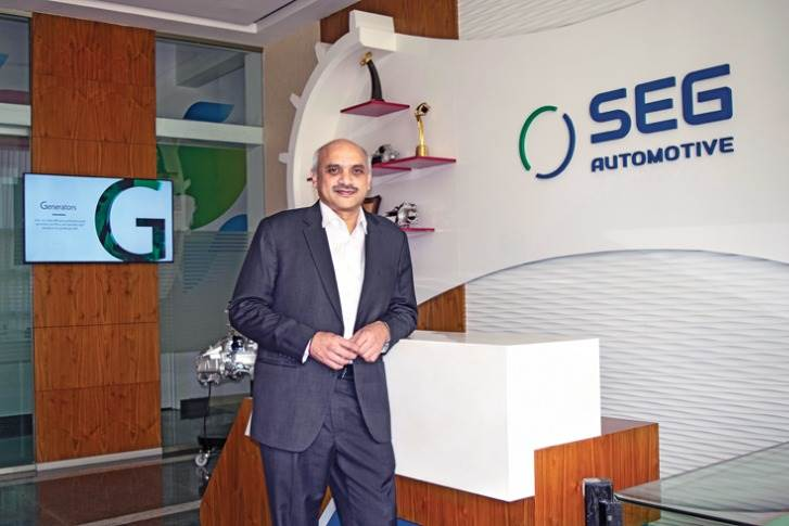 "Anil Kumar MR, president and MD, SEG Automotive India: ""Series production for the EM 1.8 and EM 1.5 will start later this year in India for the domestic and overseas market, with a high level of local content."""
