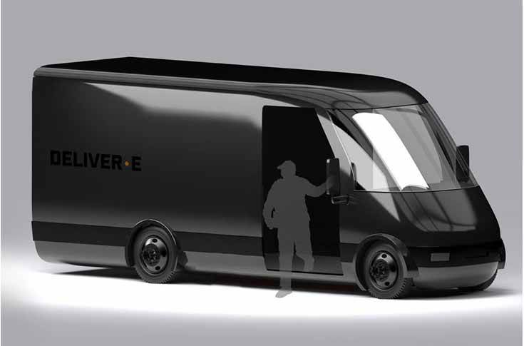 The Deliver-E is intended primarily for use as a delivery van and will be offered with a range of battery sizes and wheelbase options.