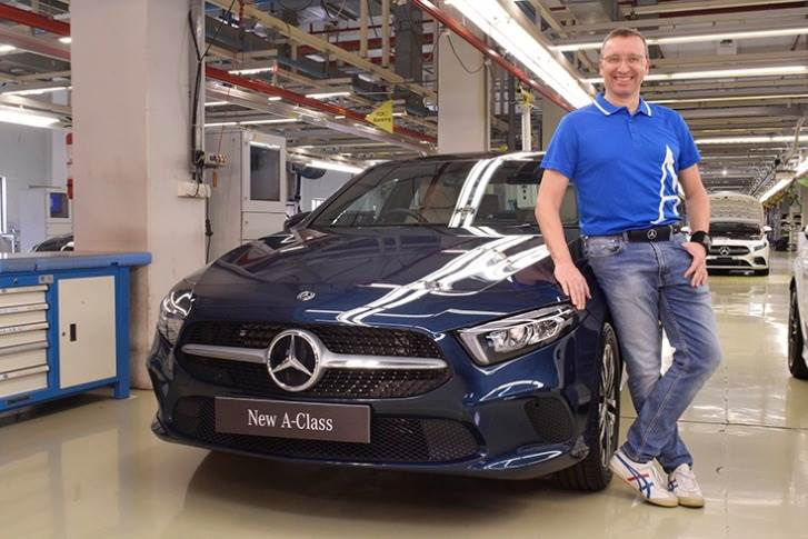 Martin Schwenk, MD and CEO, Mercedes-Benz India with the all new A-Class.