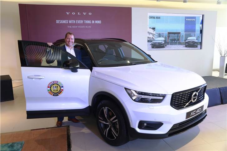 Charles Frump, managing director, Volvo Car India at the regional launch of XC40 in Indore.