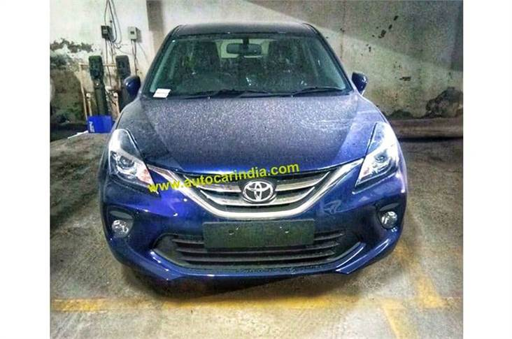 Spied fully undisguised for the first time, fresh pictures of the Toyota Glanza reveal its exterior design.