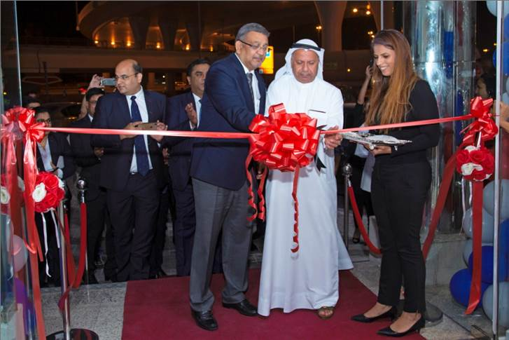 L-R: . R Dilip, executive VP, International Business, TVS Motor Company and Ahmad Al Yousuf, CEO, Al Yousuf inaugurating the TVS Showroom in Dubai.