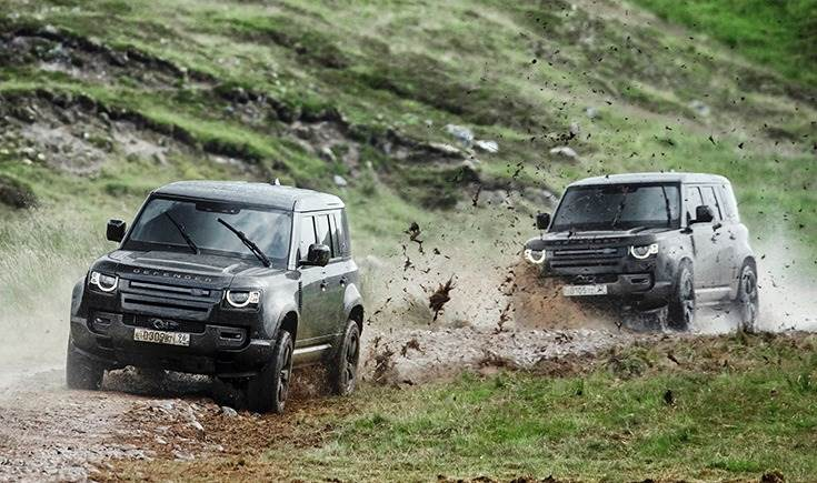 The Defenders were put to extreme tests as the vehicle is driven at top speeds through swamps and rivers.